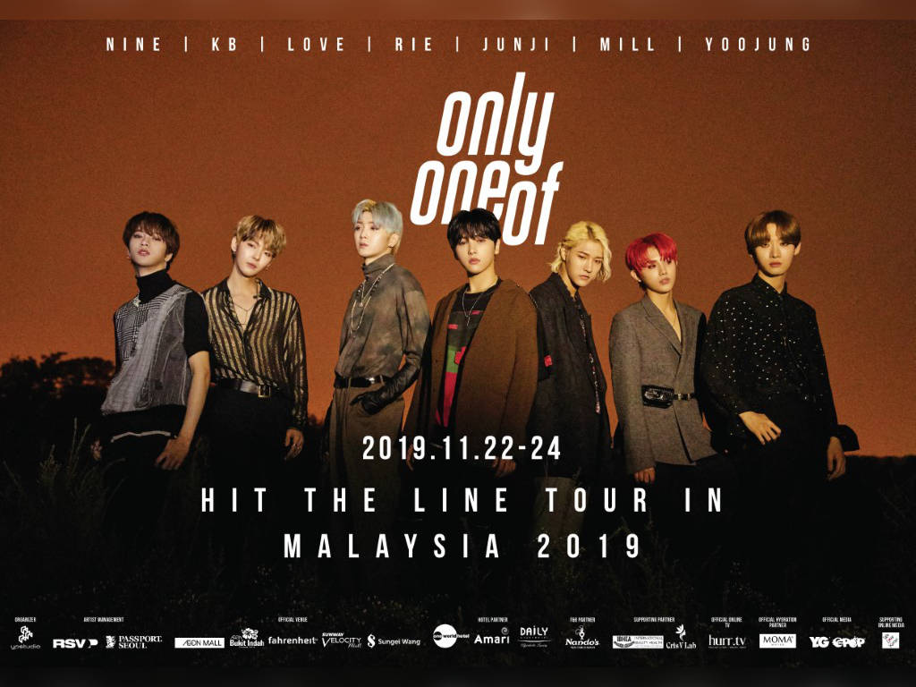 OnlyOneOf is holding their first tour in Malaysia this November
