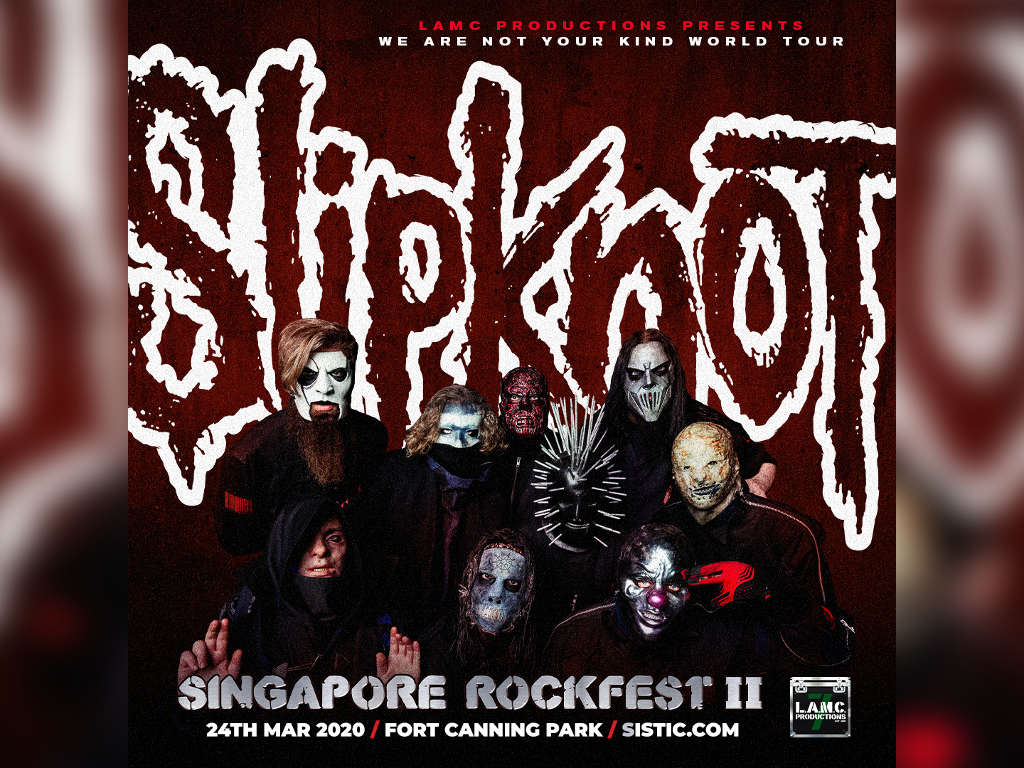 Tickets to Slipknot's 2020 Singapore concert go on sale this week
