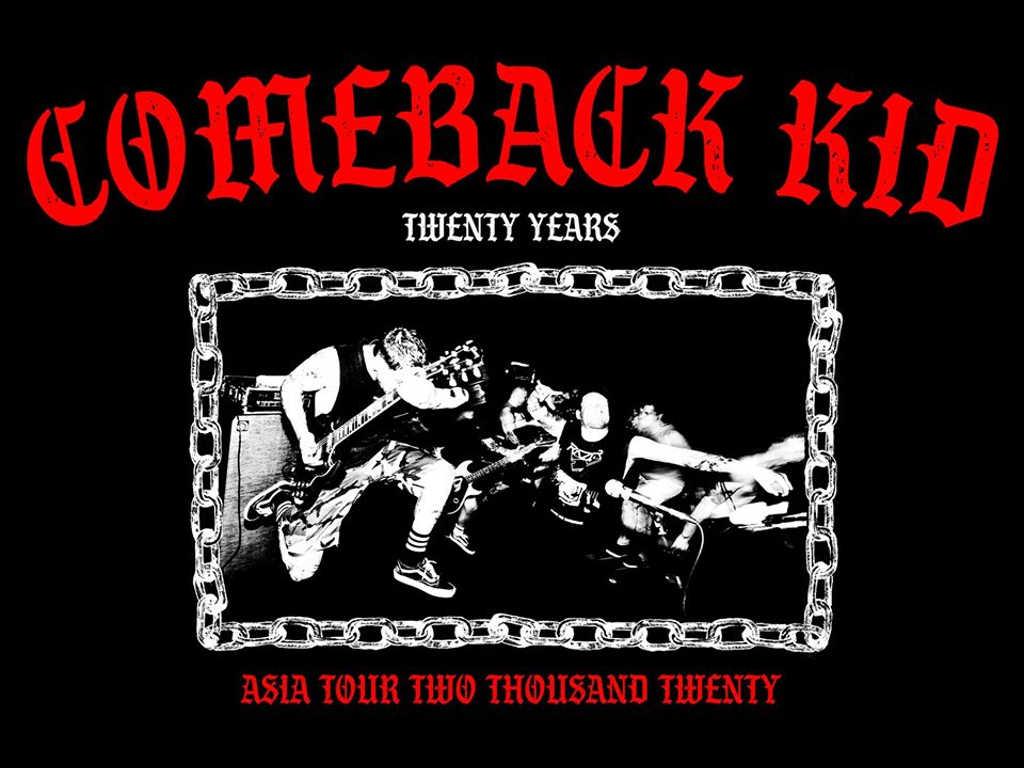 Comeback Kid includes Asia in 20th anniversary tour