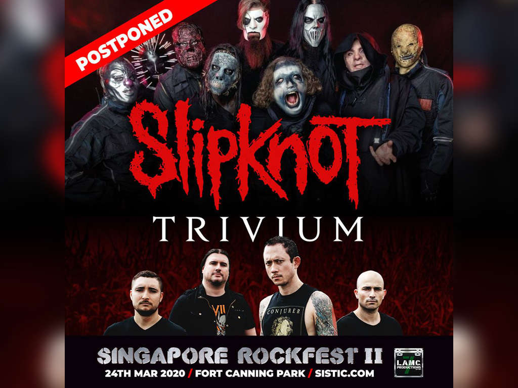 "Slipknot and Trivium's ""Singapore Rockfest II"" show postponed"