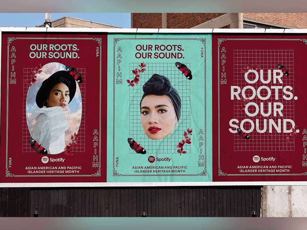 Yuna happy to be highlighted by Spotify on NYC billboards