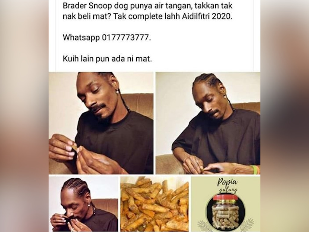 """Snoop Dogg rolling """"popia gulung"""" helps this kuih seller go viral"""