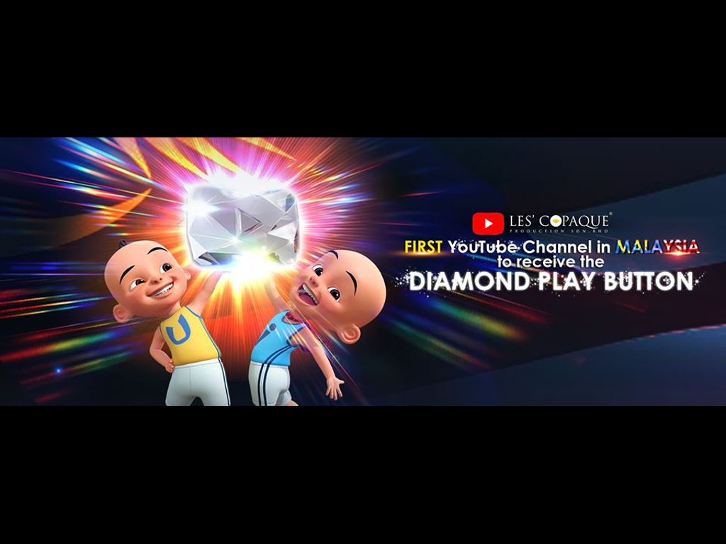 Les' Copaque is the first in Malaysia to receive YouTube Diamond Play Button