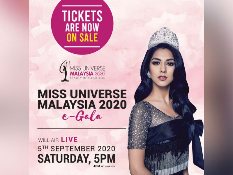 Early bird tickets to Miss Universe Malaysia 2020 eGala now on sale