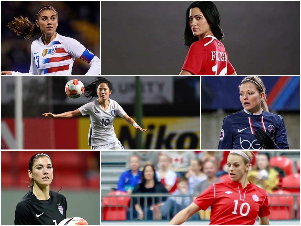 10 most gorgeous female footballers!