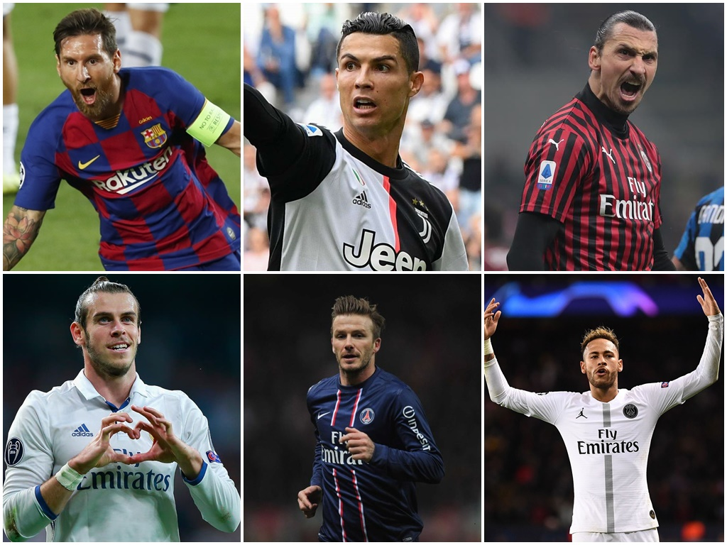 Follow the world's most popular male footballers!