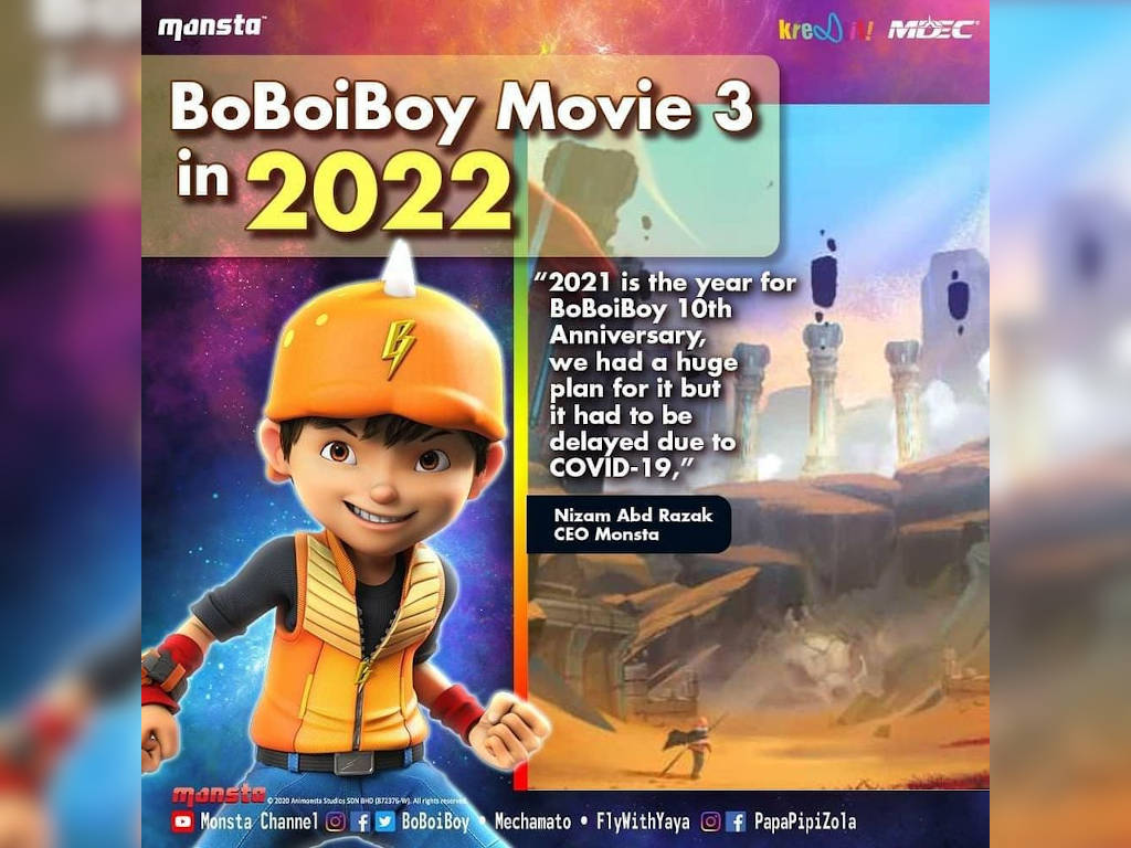 """""""BoBoiBoy Movie 3"""" set to be released in 2022"""