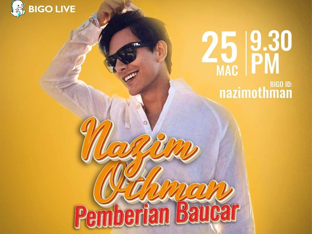 Nazim Othman to interact with fans on Bigo Live, 25 & 30 March