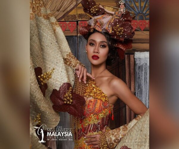 Miss Universe-MY stuns with her Kampungku costume for 69th Miss Universe pageant