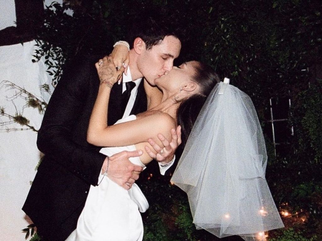 Ariana Grande shares her wedding photos