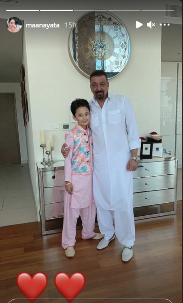 Sanjay Dutt and Maanayata Dutt celebrated Eid with their twins in Dubai 3