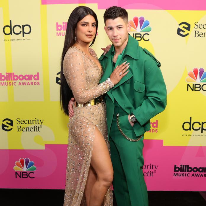 priyanka chopra nick jonas billboard music awards 2021 red carpet