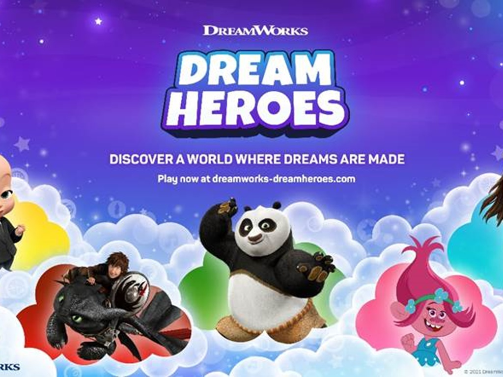 DreamWorks launches interactive world through Dream Heroes