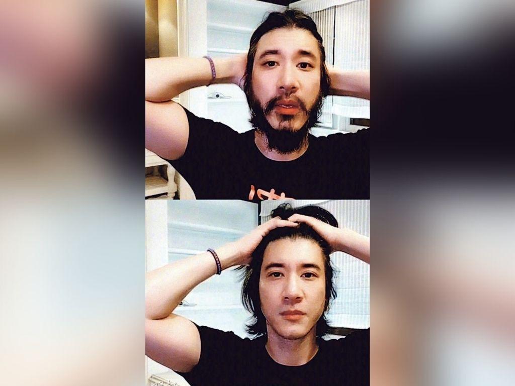 Wang Leehom shaves beard to return to original look