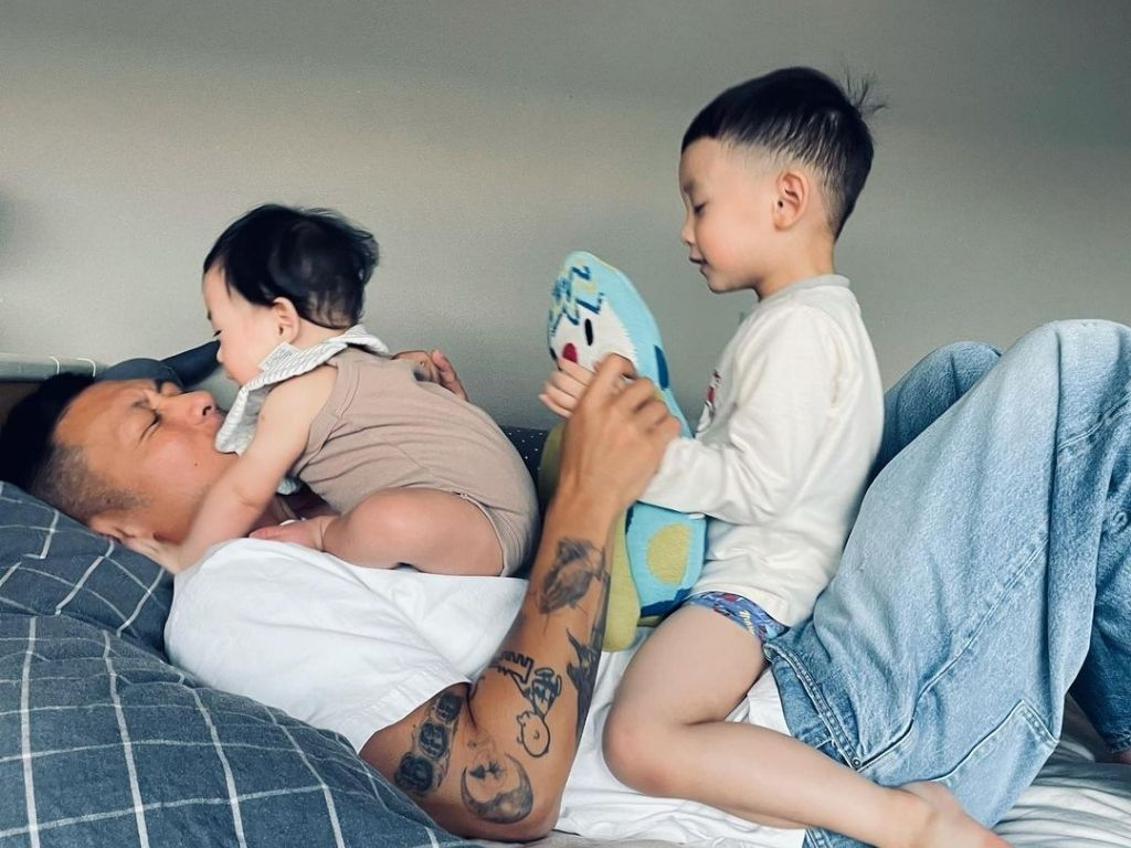 Shawn Yue happy to see daughter healthy and happy