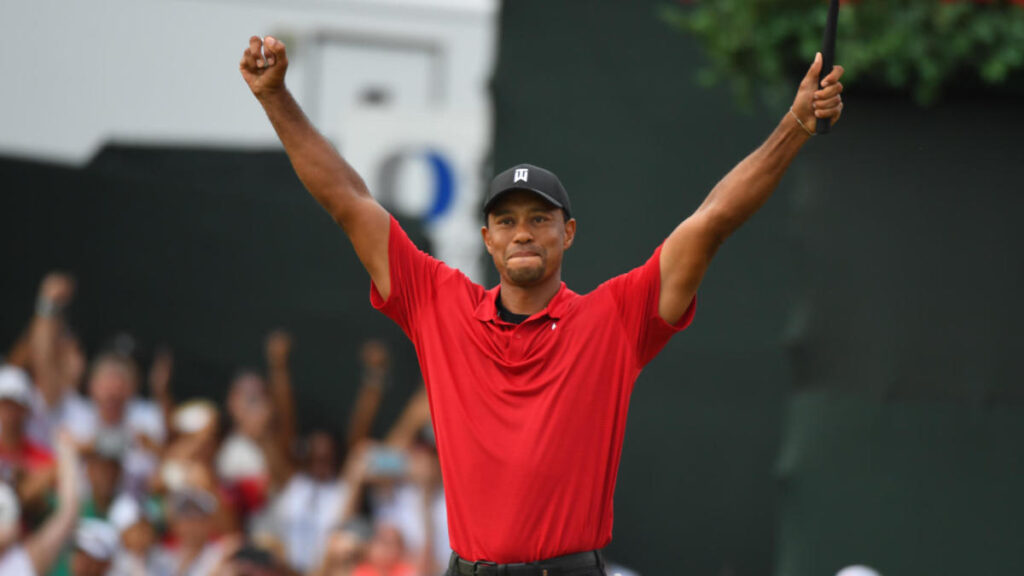 tiger woods tour champ win